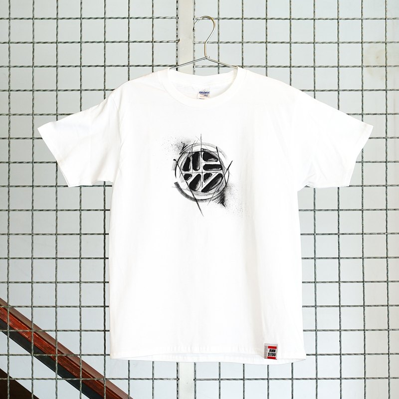 [Joint series | walking program X Annstudio] Logo hand-painted T - imperfect (white)