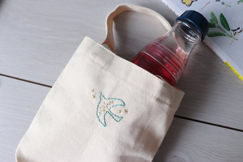 Jade Bird Double-sided Pattern Beverage Bag Illustration Embroidery Material Set