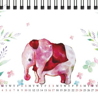 2019 desk calendar - Embrace the elephant with color in the color