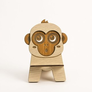 Wooden Formula (Customized - Color Patterns can be replaced) Wooden Phone Holder - 12 Zodiac (Monkey) Mobile Phone Holder / Ornament / Business Card Holder / Gift / Premium / Mobile Phone Accessories / Stationery