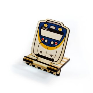 Taiwan Railways Smile EMU800 × Ray Wood DIY Phone Stand [Work hard. For that trip on the railway. 】Card Holder × Note Paper × Office cash register utility