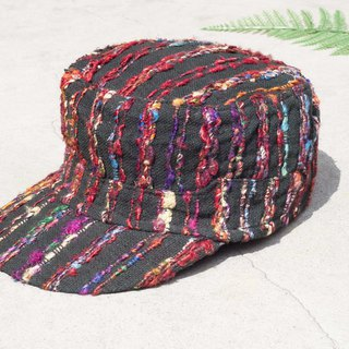 Limited a Mother's Day gift Valentine's Day gift Chinese Valentine's Day gift hand-woven cap / knit cap / fisherman hat / Visor / handmade hat / sports cap / hand-woven cap / cotton cap / baseball cap-Rainbow colorful handkerchief Sari line han