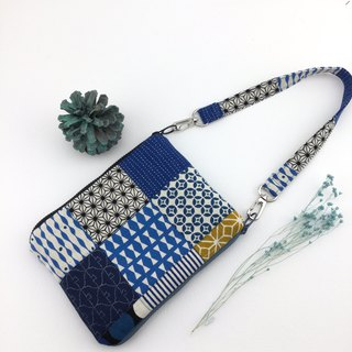 Winding Free Blue - Double Sided Zip Magic Bag - Handbag/Mobile Phone Bag/Passport Bag/Cosmetic Bag