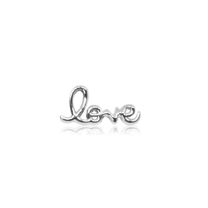 Holley HOURRAE [writing LOVE word] elegant silver series small jewelry