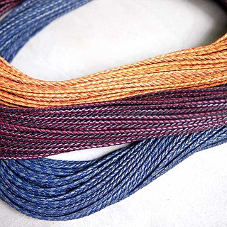 Japanese Tochigi tanned leather double color woven leather rope / neck rope / bracelet rope (diameter 3.5 ~ 3.8mm / length 1000mm)