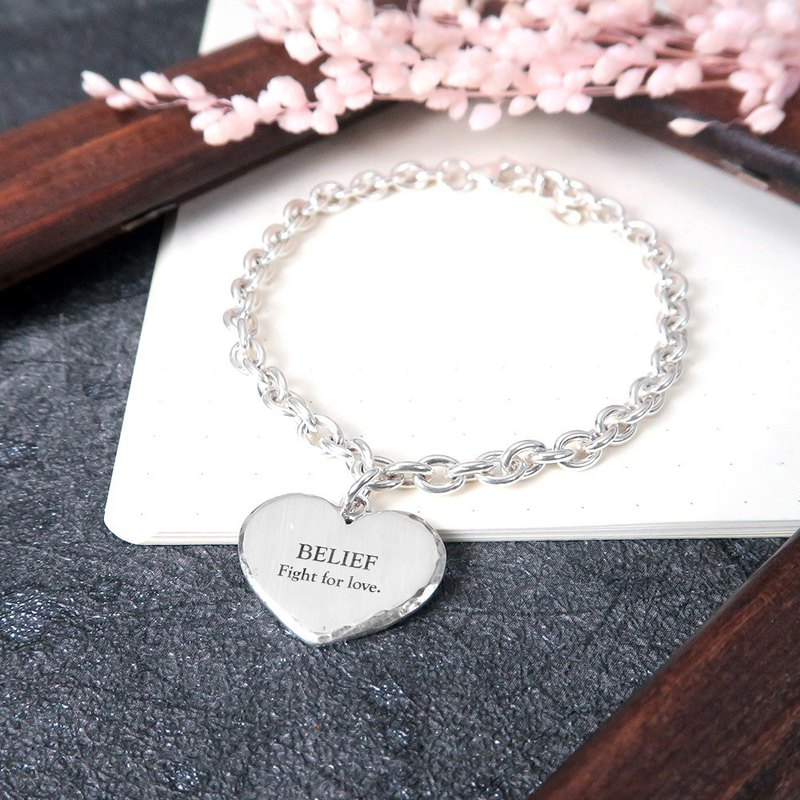 Feel forging series women's love classic version lettering bracelet 925 sterling silver custom bracelet
