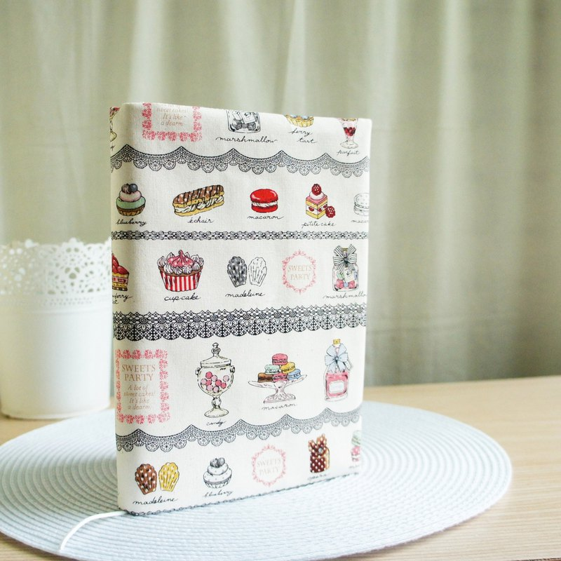 Lovely Japanese cloth [dessert lace double-sided cloth book, rice] 25K log, A5 PDA available