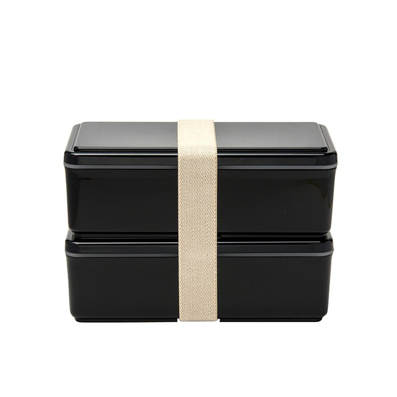 Sanhao Co., Ltd. GEL-COOL gentleman series double cold storage lunch box L black