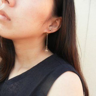 *coucoubird*Champagne Diamond Ear Clips/Anti-allergic Ear Pins
