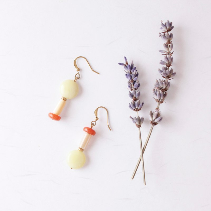 Waltz. Asymmetric Brass Earrings, Sisters, Close Friends, Mother's Day, Birthday Gift