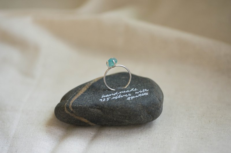 Iceberg no.1 | Apatite gemstone & silver ring