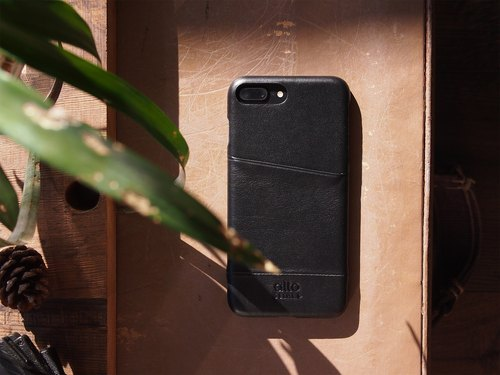 Alto iPhone 8 Plus Leather Case Back Cover 5.5吋 Metro - Raven Black