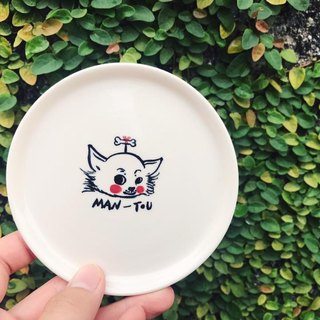 Customized hand-made porcelain dishes, animal and character drawing (a porcelain plate, an avatar)