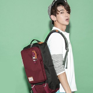 Doughnut Waterproof Toast Backpack - Red Wine Cranberry