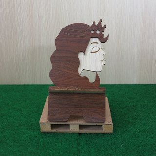 Taiwan stack [custom - color pattern lettering can be replaced] wooden phone holder - kiss the princess (with the frog prince to do with Oh) mobile phone holder / decorations / business card holder / gift / gifts / mobile phone accessories / stationery