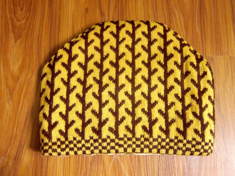 Nordic grocery ‧ Fenlansenlin wool woven hat yellow tea