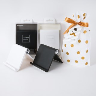 Black and white texture mobile phone gift set (two in) - 璀璨 white + texture black