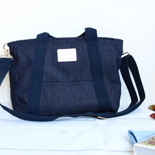 Tannin Tote Bag Denim Backpack - Midnight Blue