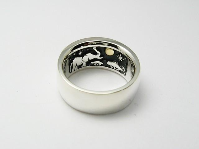 Silver Ring I saw the same month-African elephant-