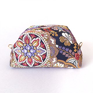 "Pouch with Japanese Traditional Pattern, Kimono (Medium) ""Brocade"""
