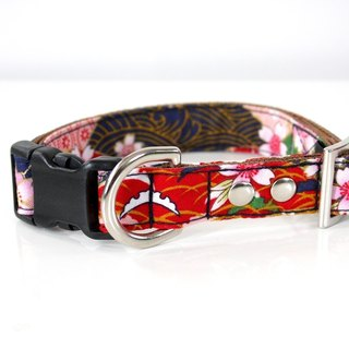 Kabuki Japanese Pattern Medium Dog Collar M size