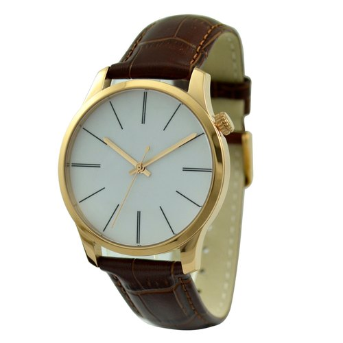 Minimalist Watch with Long Stripe (Big) Rose Gold - Free shipping