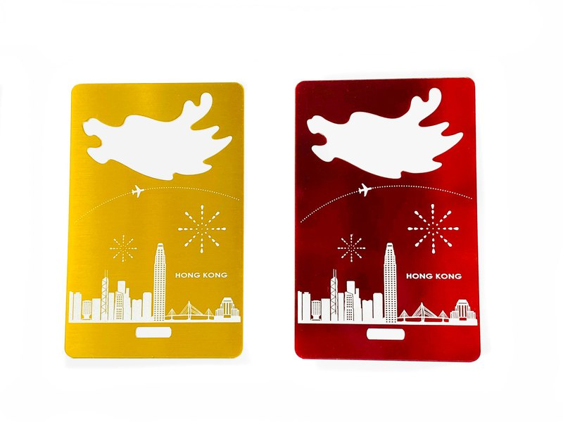 World Luggage Tag Opener_Sky Line_ Hong Kong_2 colors荷札付箋栓抜き
