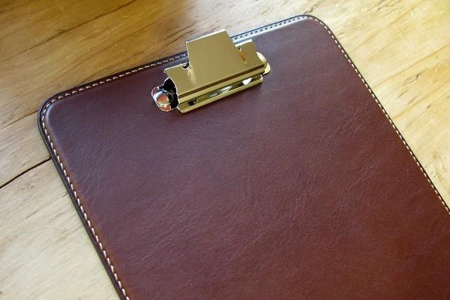 Clipboard A 5 dark brown