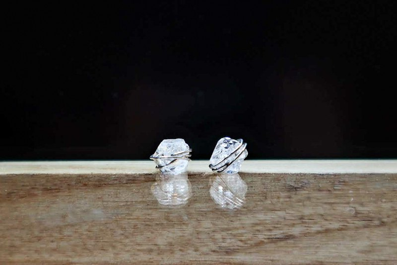 100% Real HERKIMER DIAMOND Stone of superior purifying power Earrings/Clip on