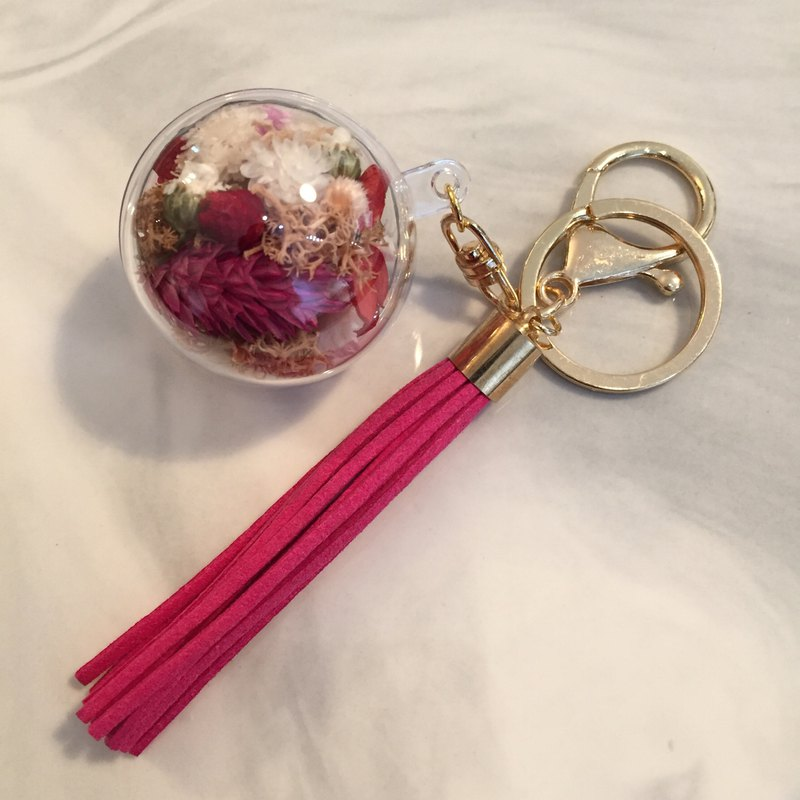 MAHU pink dry flower ball ornaments