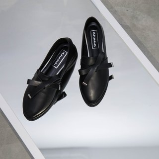 Ribbon Roafers - Black