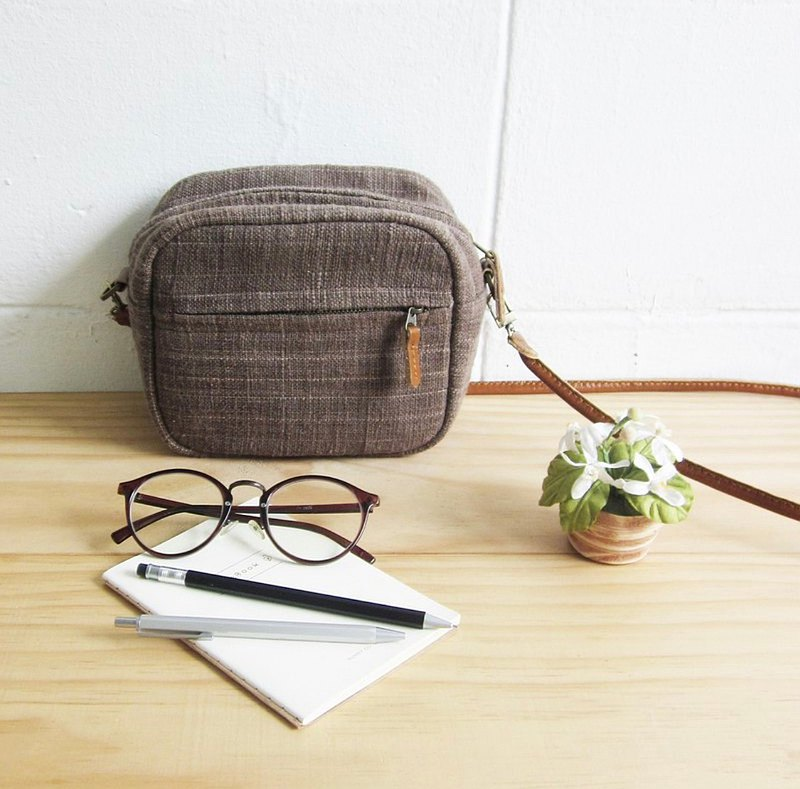 Crossbody Bags Little Tan Mini Bags Botanical Dyed Cotton Green Color
