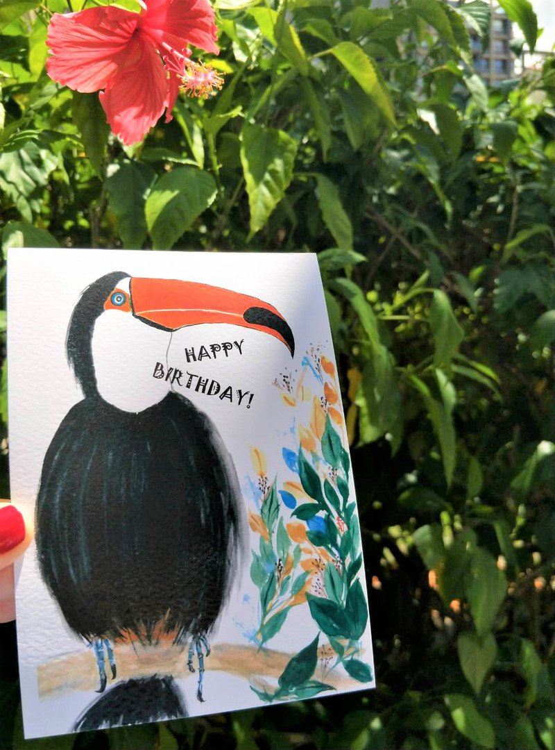 Birthday cards, Postcards, Watercolor Cards, Hand Drawn