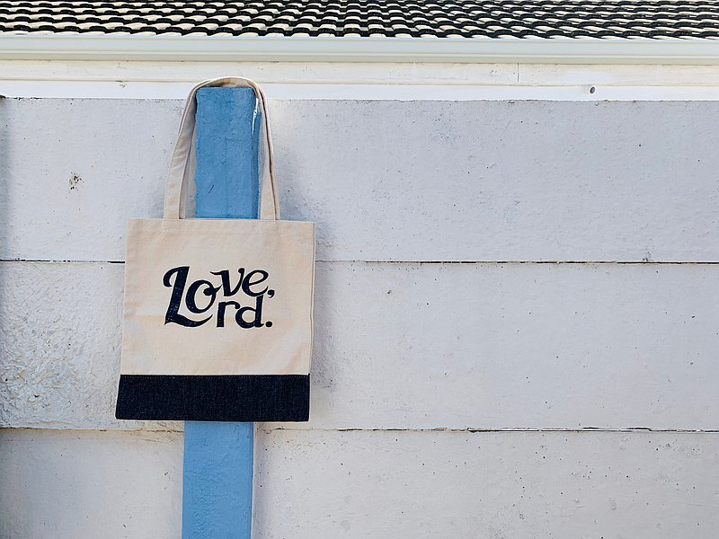 New! Love Lord canvas bag