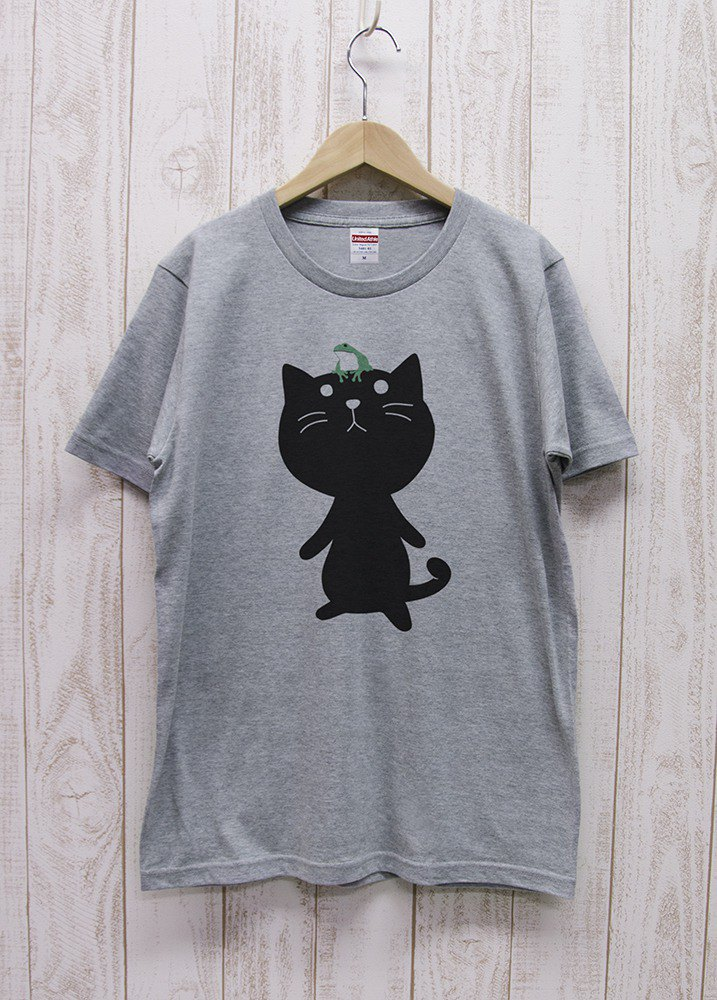 Nite Ten Zero Nyan Tee Frog Heather Gray / R006-T-GR