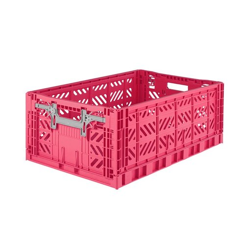 Turkey Aykasa Folding Storage Basket (L) - Cherry Rose Powder