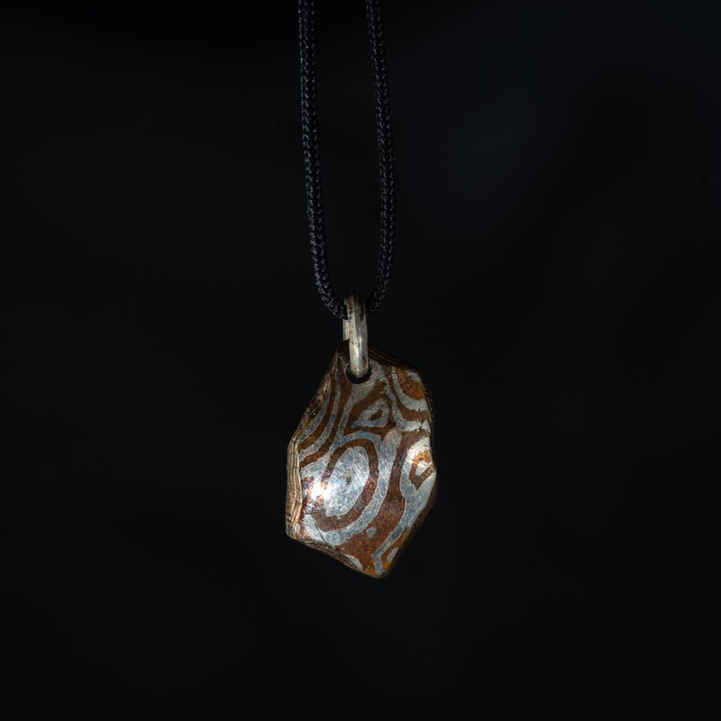 Mumu gold wood grain gold, silver and copper wood gold pendant