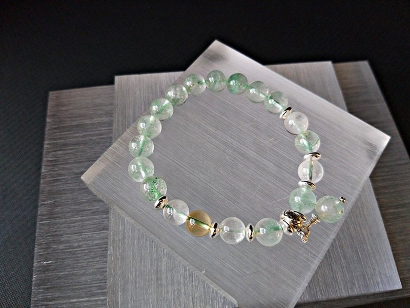 Wedding Banquet - Cui Ghost + White Ghost + Citrine Sterling Silver Bracelet