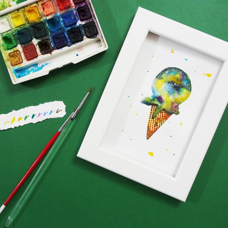【Workshops】Weekday Custom Time - Mstandforc Workshop - Watercolor Star Ice Cream Ball Workshop