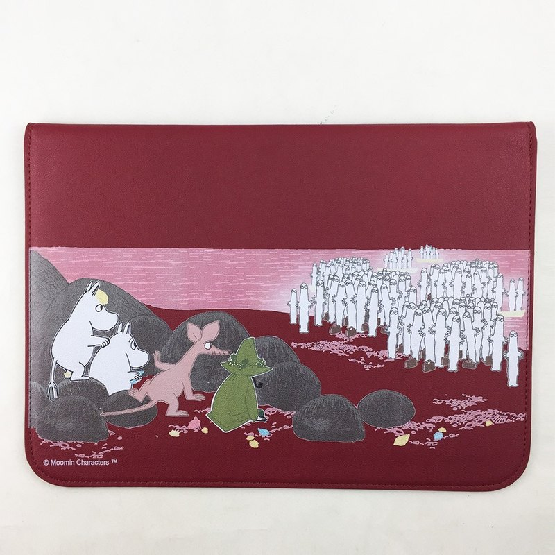 Moomin Lulu meters genuine license -3C protection leather (wine red): [yo] 32.5 * 21.5cm