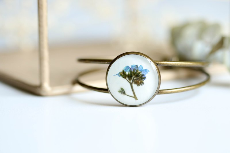 Forget me not (BG-White) – Bangle