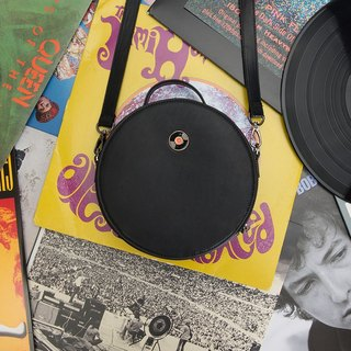 KIITOS Classic Series Round Leather Side Backpack Crossbody Bag--Vinyl Record ##快货#