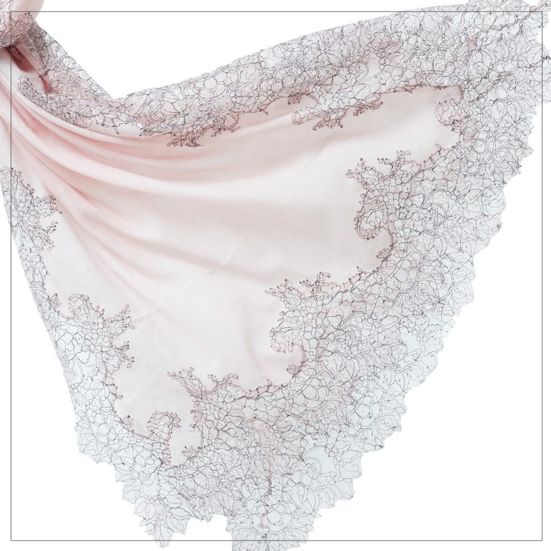 [ANGEL WOOLEN] Hi Angel lace Indian handmade shawl (three colors)