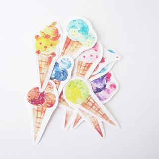 """Fun Ice Cream"" sticker set"