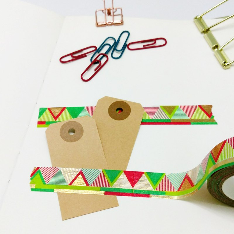 Paper tape - bronzing line triangle