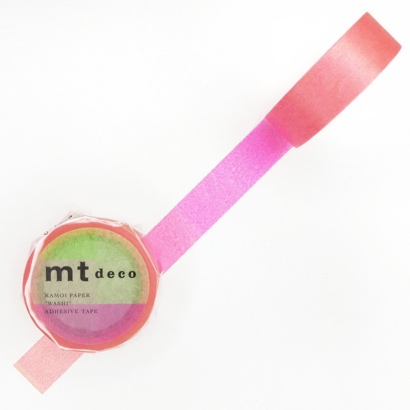 mt Deco Masking Tape / Fluorescent Gradation Pink x Green (MT01D459) / 2020SS