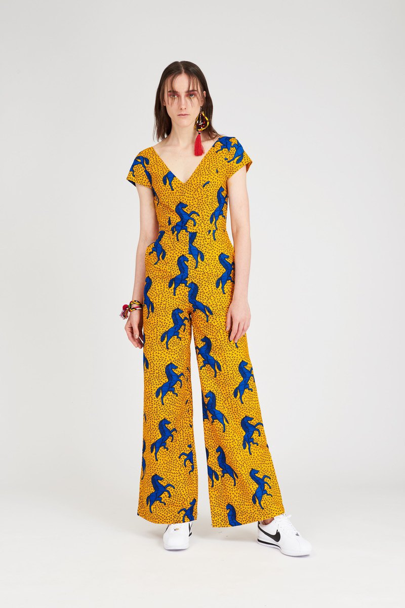 Horse Jumpsuit Yellow