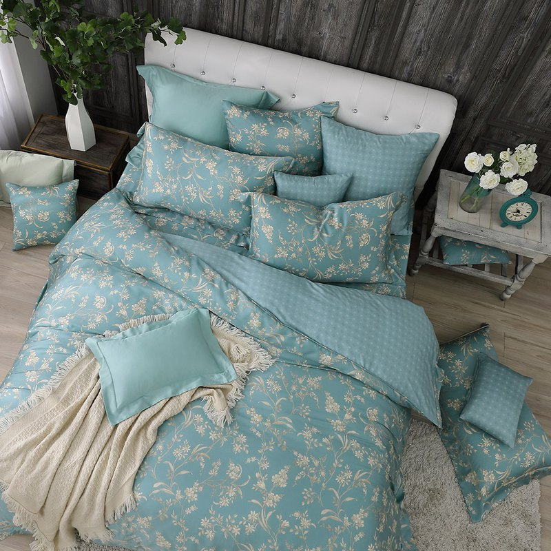 Extra large size - flowers and flowers - Tencel dual-use bedding four-piece group [100% Lysell Tencel]