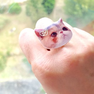House of Cats Handmade Jojo Love Heart Adjustable Ring