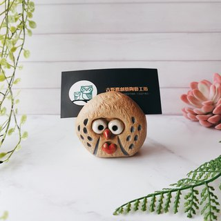 D-16 Love Eagle Card Holder │Yoshino Hawk x Owl Pottery Decoration Pure Handmade Desk, Desk Stationery Healing Small Things
